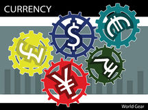 Vector illustration currency money dollar pound euro concept Royalty Free Stock Images