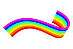 Vector illustration of a curved rainbow Royalty Free Stock Photography