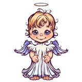 Vector illustration of cute angel Royalty Free Stock Photos