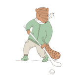 Vector illustration. Cute animal like humans. Humanized animal. Royalty Free Stock Photography