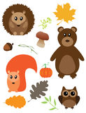 Vector Fall Animals Stock Images