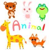 Vector illustration of cute animals.  vector illustration