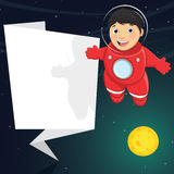 Vector Illustration Of A Cute Astronaut With Origa Royalty Free Stock Photography