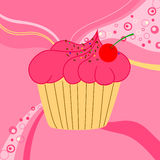Vector illustration of cute cake Royalty Free Stock Photo