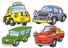 Vector illustration of cute cartoon car characters Royalty Free Stock Photo