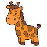 Cute cartoon giraffe character. Vector illustration of cute cartoon character for children and scrap book vector illustration