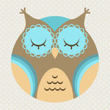 Vector illustration of cute cartoon owl Stock Photography