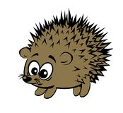 A cute cartoon style surprised hedgehog Royalty Free Stock Photography