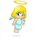 Vector illustration of a cute Christmas angel character Stock Photography