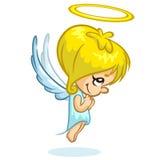 Vector illustration cute Christmas angel character. Cartoon Stock Image