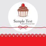 Cute cupcake gift card Royalty Free Stock Photo