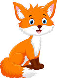 Vector illustration of cute fox cartoon Royalty Free Stock Photo