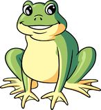 Cute Frog Character Stock Photography