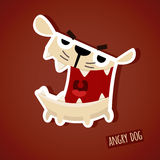 Vector illustration of cute funny angry dog Royalty Free Stock Photography