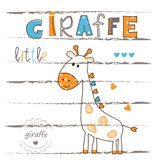 Vector illustration with cute giraffe Stock Image