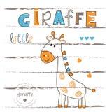 Vector illustration with cute giraffe Stock Image