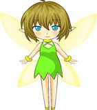 Cute green little fairy Royalty Free Stock Images
