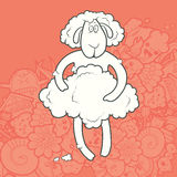 Vector Illustration Cute Hand Drawn Sheep Royalty Free Stock Images
