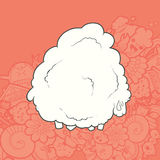 Vector Illustration Cute Hand Drawn Sheep Royalty Free Stock Photography