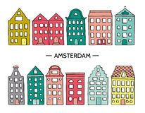 Vector illustration of cute houses stock illustration