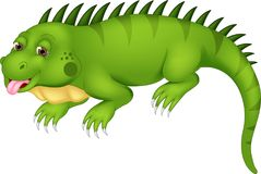 Cute iguana cartoon posing with laughing and sticking her tongue out. Vector illustration of Cute iguana cartoon posing with laughing and sticking her tongue out Stock Image