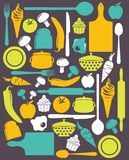 Cute kitchen pattern Royalty Free Stock Photos