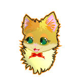 Vector illustration - cute kitty, sticker, poster, card Royalty Free Stock Image