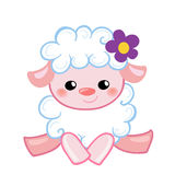 Vector Illustration cute lamb in the style cartoon. Royalty Free Stock Photography