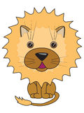 A vector illustration of a cute lion royalty free illustration