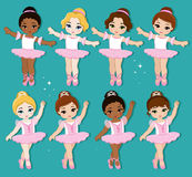 Vector illustration of cute little ballerinas. Stock Image