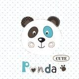 Vector  illustration with cute panda Stock Photos