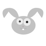Vector illustration of a cute rabbit head. Editable vector illustration of a cute rabbit head cartoon on white background Royalty Free Stock Photo