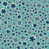 Vector seamless pattern with colorful stylized stars or snowflakes. Childish texture for fabric, textile, wrapping paper Stock Photography