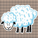 Vector illustration of cute sheep. Illustration of cute cartoon sheep Royalty Free Stock Photos
