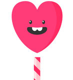 Vector illustration of cute smiling heart cloud Royalty Free Stock Image