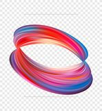 Vector illustration: 3d Abstract twisted shape of fluid or brush stroke of paint. Modern design. Vector illustration: 3d Abstract twisted shape of fluid or Stock Images