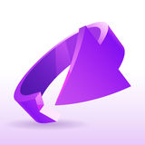 Vector illustration of 3d arrow, design element. On white Royalty Free Stock Images