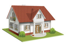 Vector illustration 3d of classic house Royalty Free Stock Image