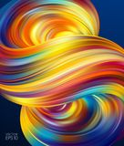 Vector illustration: 3d Colorful Abstract background with twisted shape of fluid. Modern design. Vector illustration: 3d Colorful Abstract background with Royalty Free Illustration
