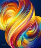 Vector illustration: 3d Colorful Abstract background with twisted shape of fluid. Trendy design. Vector illustration: 3d Colorful Abstract background with Stock Illustration