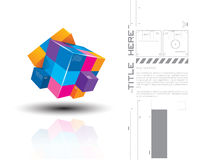 Vector illustration of 3d colourful cubes Royalty Free Stock Images