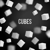 Vector illustration of 3d cubes. Abstract background for business presentation design Stock Images