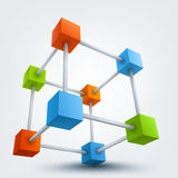 Vector illustration of 3d cubes Stock Photos