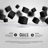 Vector illustration of 3d cubes. Stock Photo