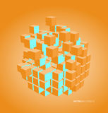 Vector illustration of 3d cubes Royalty Free Stock Images