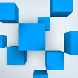Vector illustration of 3d cubes Royalty Free Stock Photos
