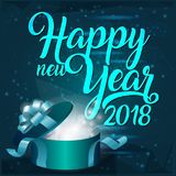 2018. Vector illustration 3d design. Gift from Santa Claus. Happy New Year Stock Image