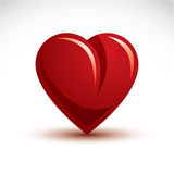 Vector illustration of 3d elegant red love heart . Valen Royalty Free Stock Images