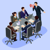 Vector illustration of 3D flat isometric people. The concept of a business leader, lead manager, CEO. Stock Image
