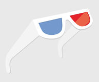 3D Glasses - Three dimensional movies Royalty Free Stock Photography